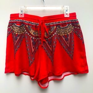 Jealous Tomato Gorgeous Red Flowy Shorts Size M